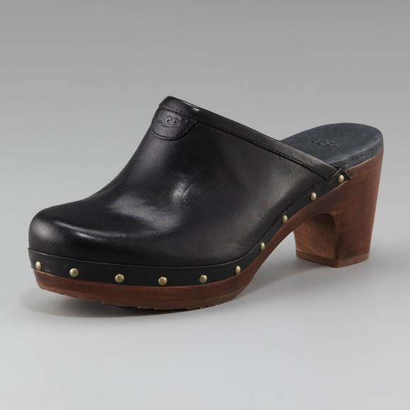 discount official site UGG Australia Abbie Leather Clogs free shipping outlet store discount price get to buy online high quality for sale U0ZzUaD1W